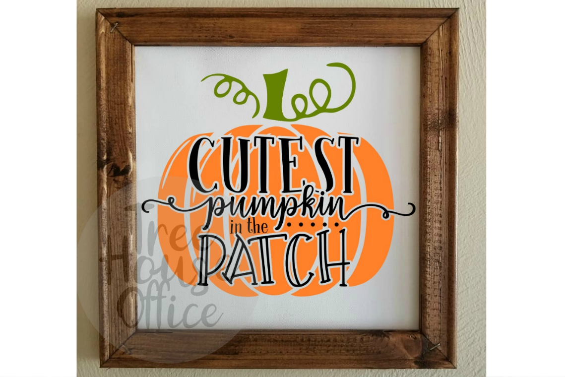 Cutest Pumpkin in the Patch Fall Autumn Baby SVG PNG JPEG example image 3
