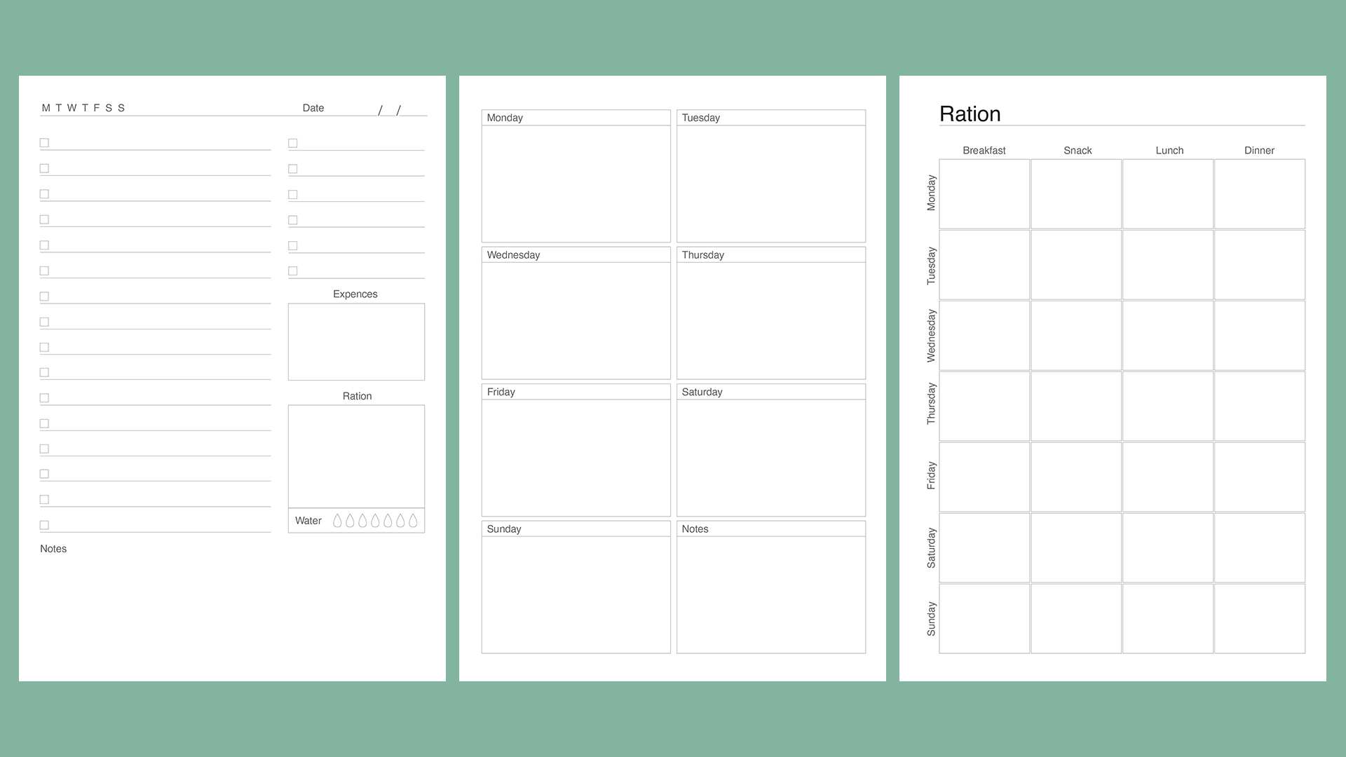 Planner kit vol.4. Universal design example image 9