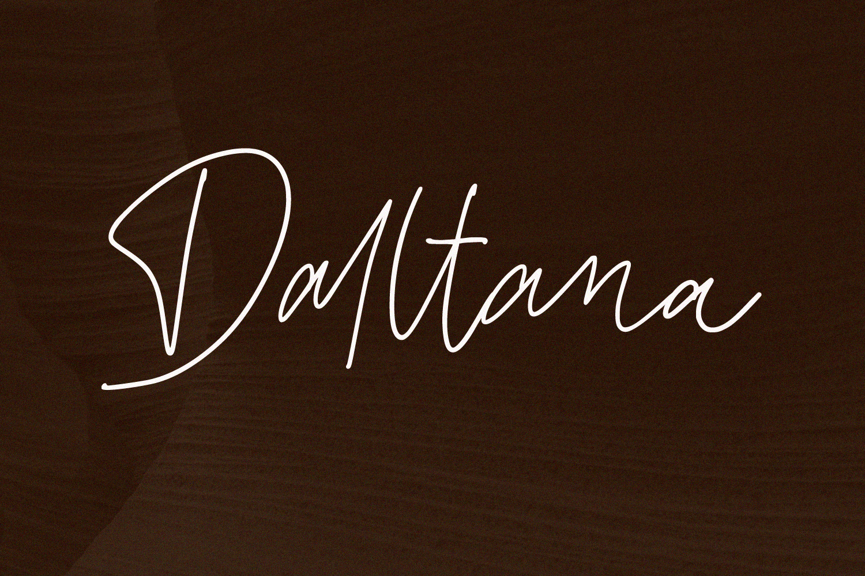 Daltana Handwriting Font example image 1
