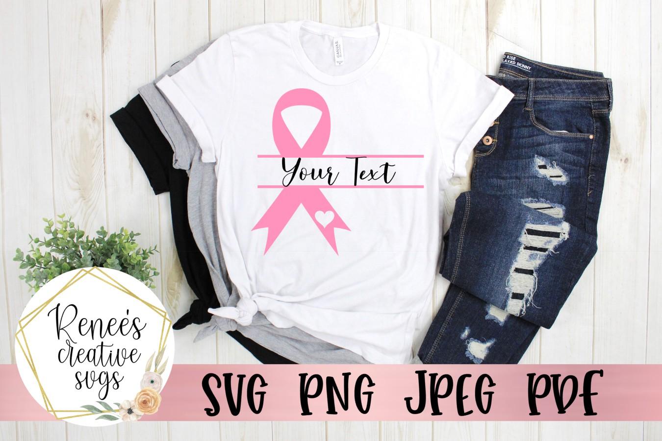 Breast Cancer Awareness Monogram|Breast cancer awareness SVG example image 4