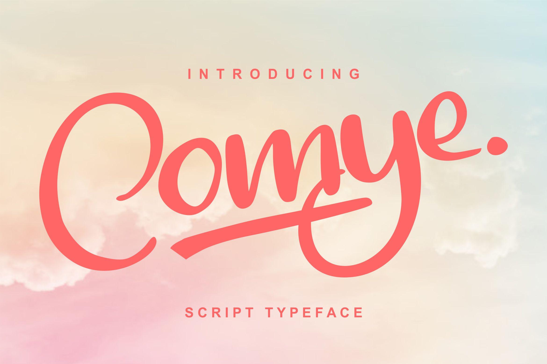 Comye   Script Typeface Font example image 1