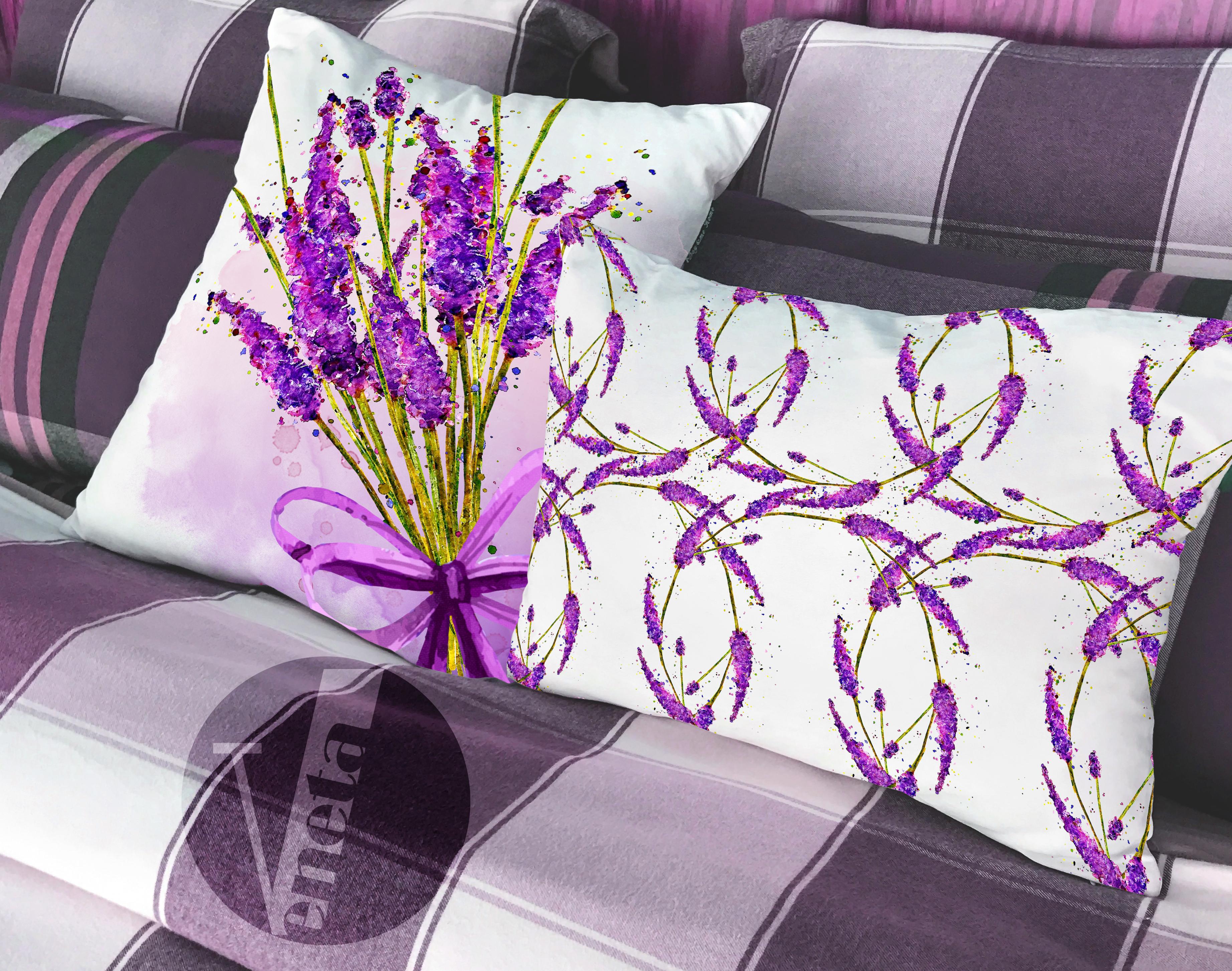 Lavender Watercolor Clipart Collection Printable Purple Flowers