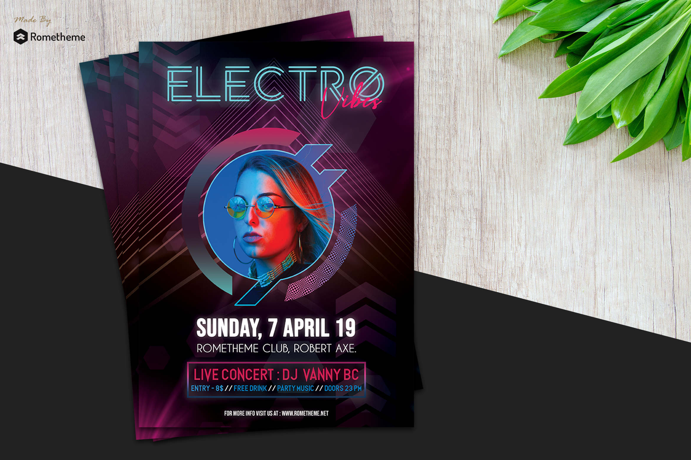 Electro Music Flyer vol.01 example image 1