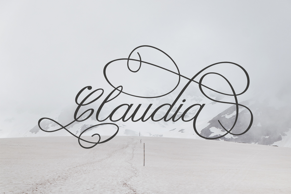 Claudia Calligraphy example image 11