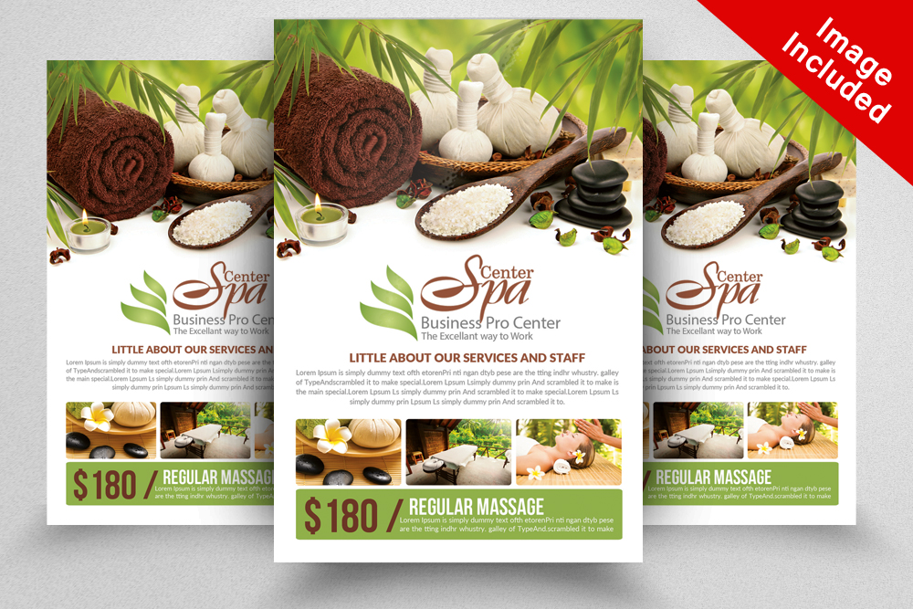 Spa Center Flyer Templates example image 3