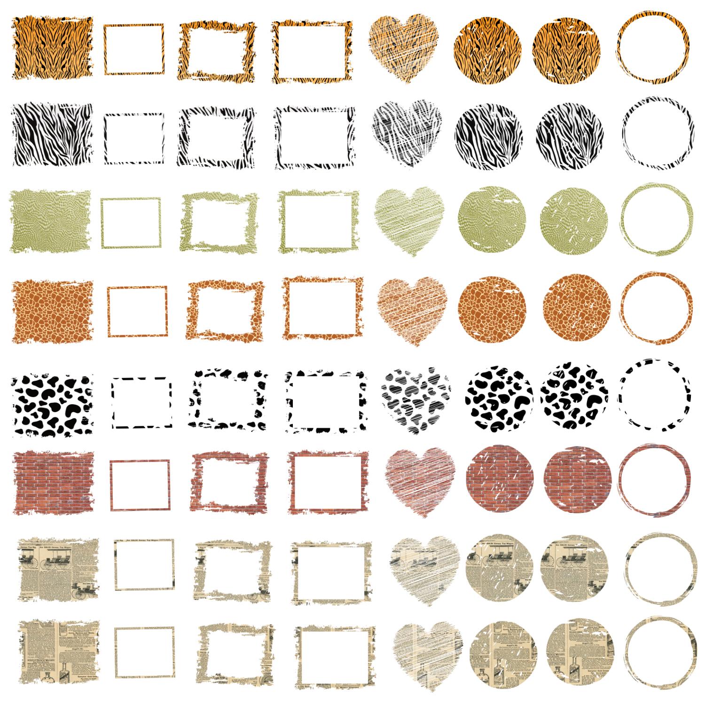 Backsplash Frames Bundle for Sublimation - 728 PNG Designs example image 2