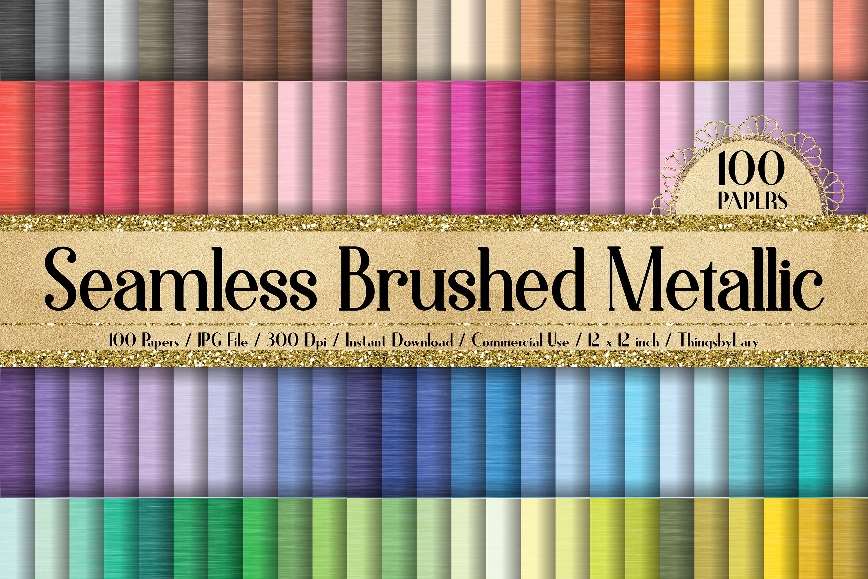 100 Seamless Brushed Metallic Polished Metal Digital Papers example image 1