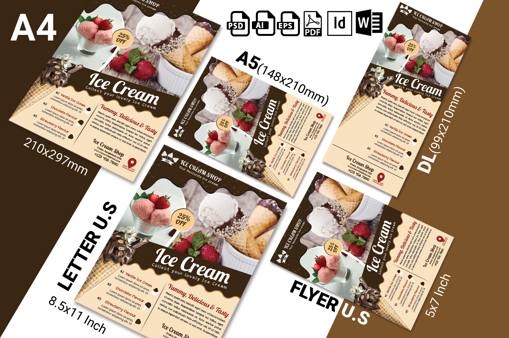Ice Cream Shop Flyer Template Vol-03 example image 2