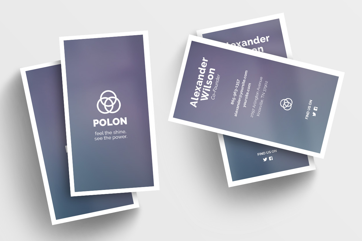 Polon - A Modern Business Card Template example image 1