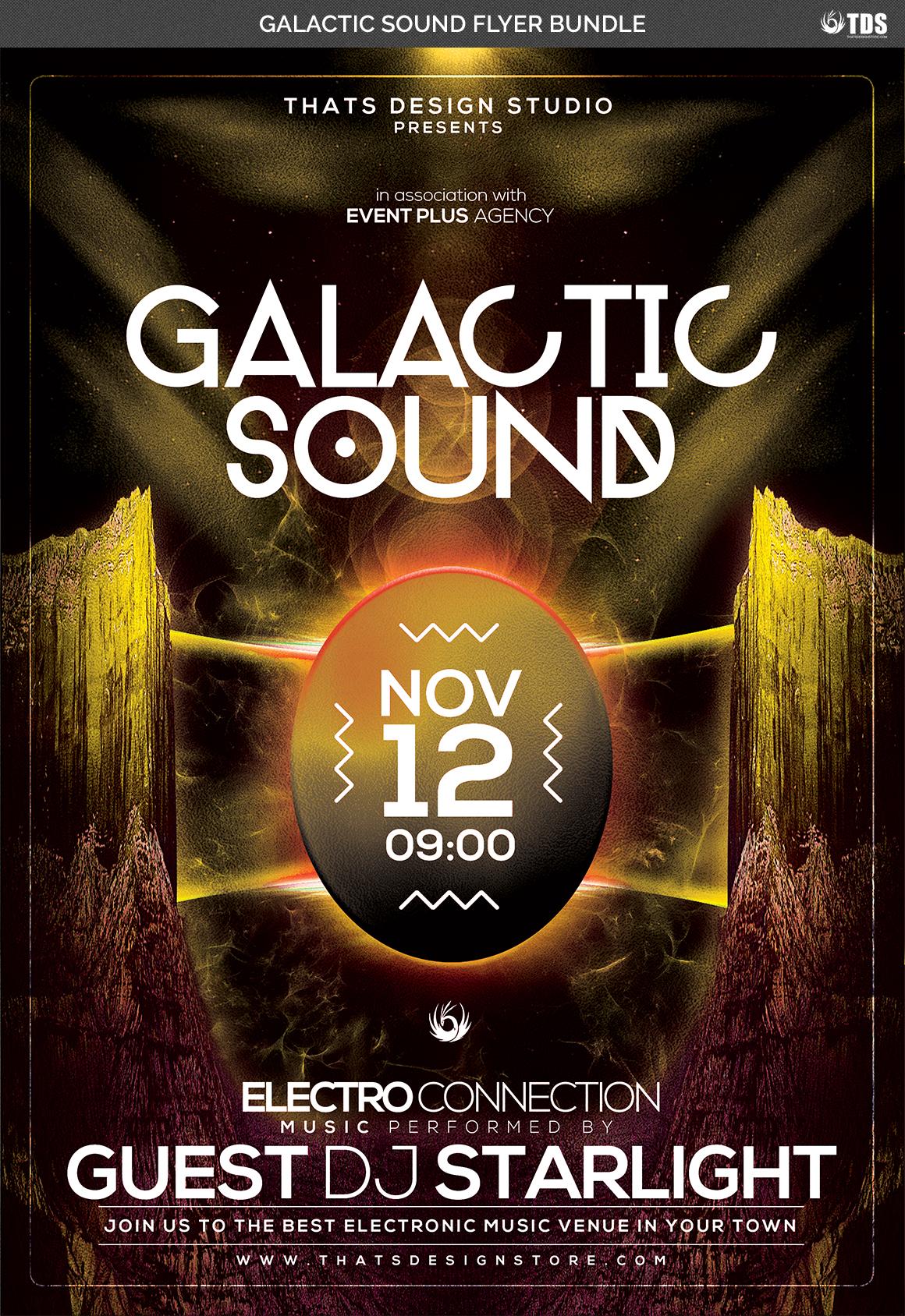 Galactic Sound Flyer Bundle example image 9