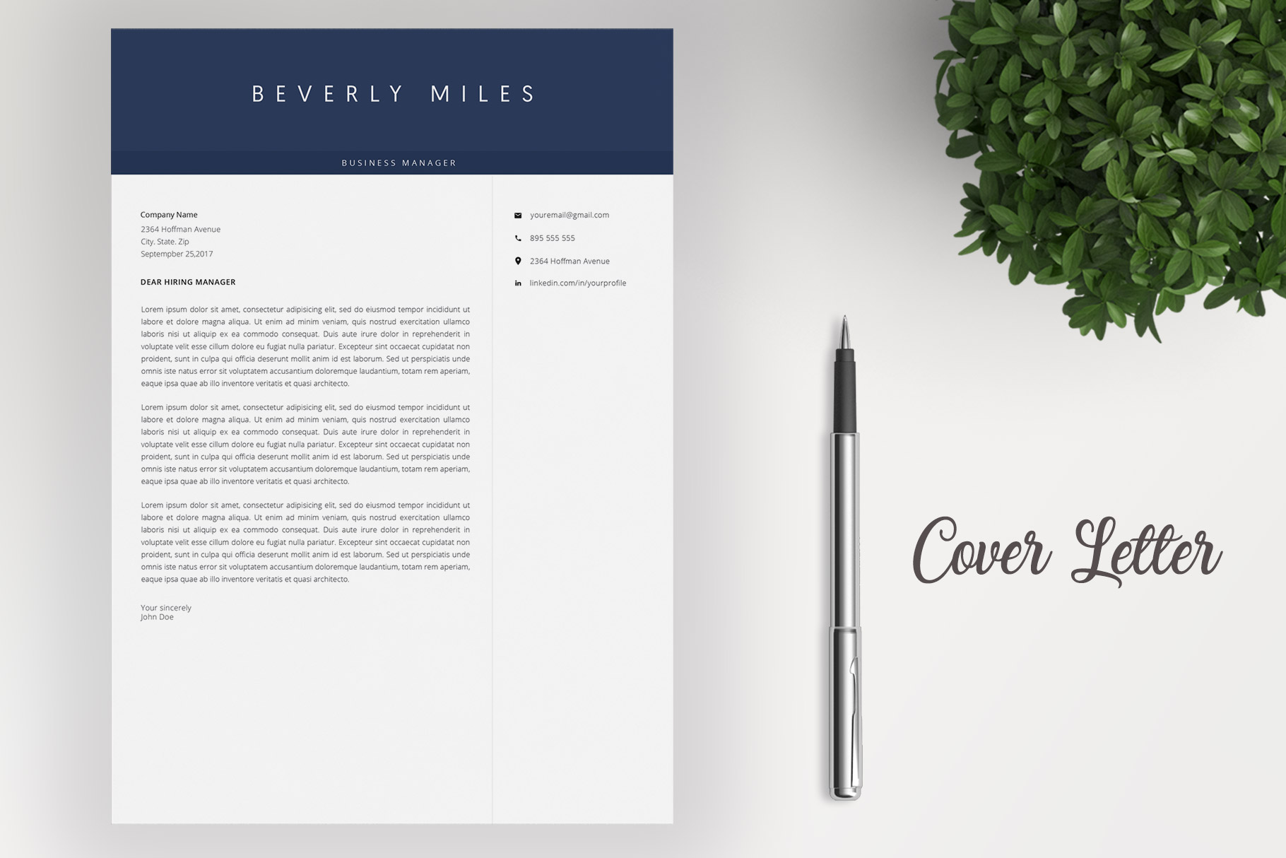 Resume Template and Cover Letter | CV template example image 4