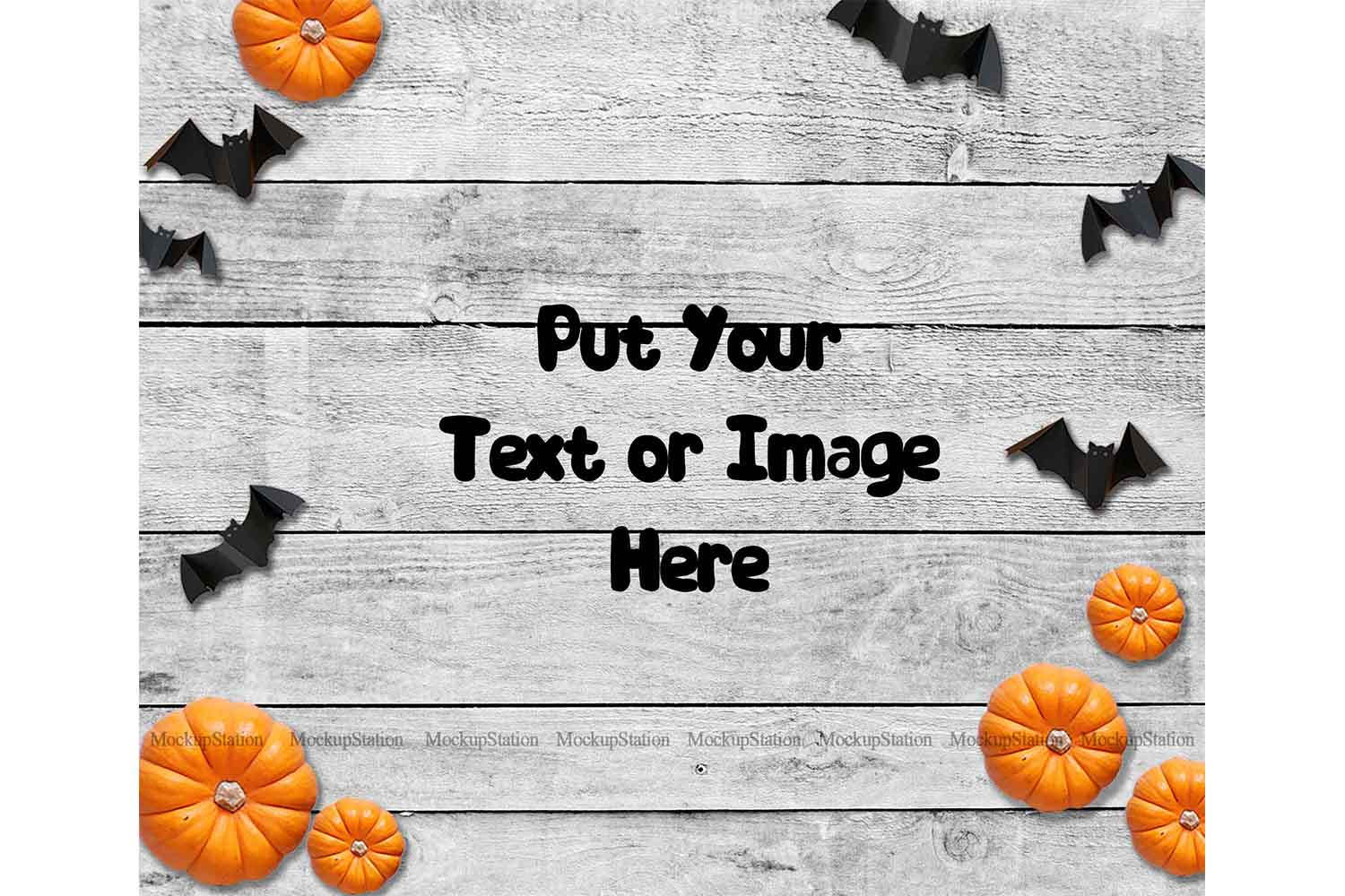 Halloween Background, Fall Wood Digital Backdrop Scene Stock example image 1