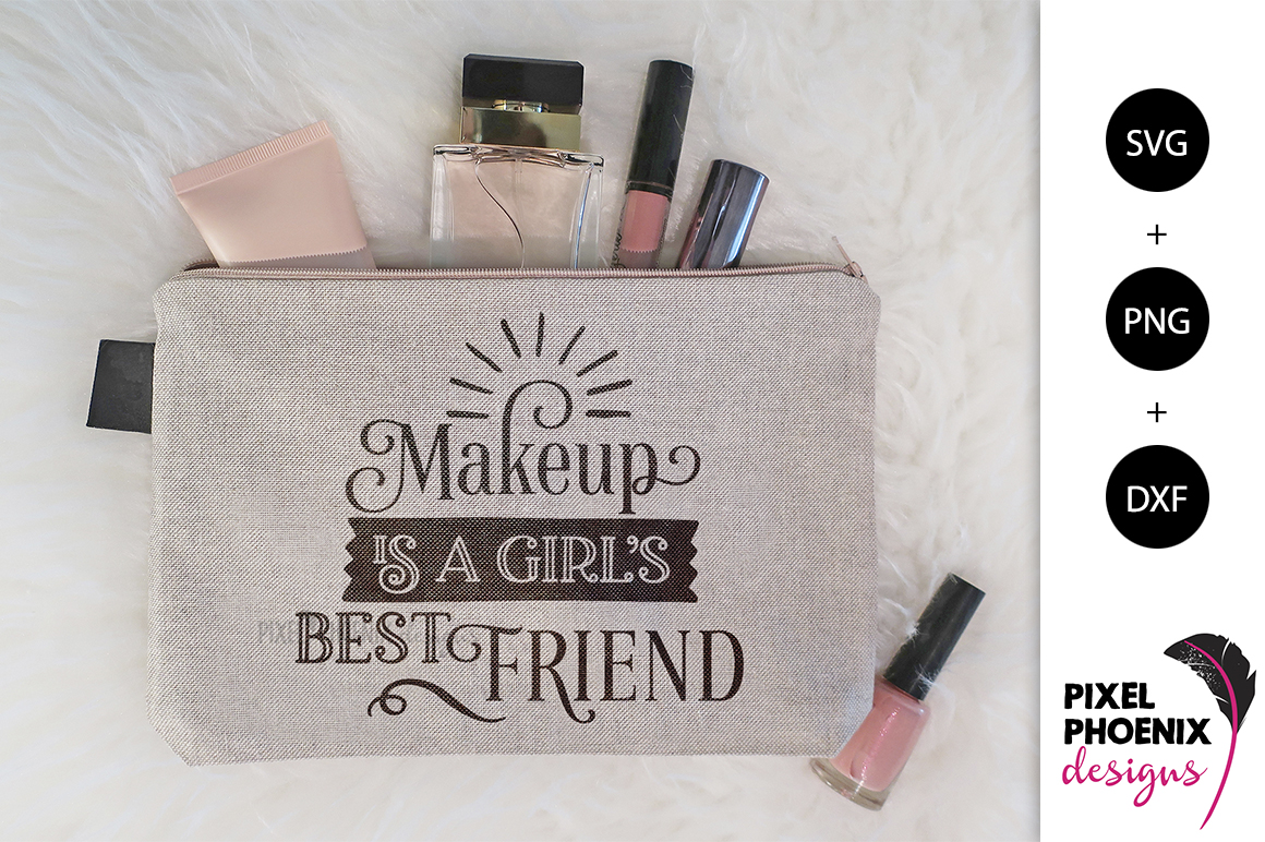 Makeup is a Girl's Best Friend SVG example image 2