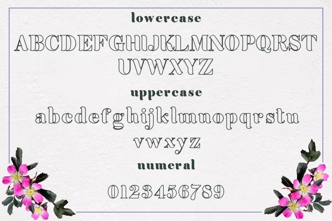 Achiela font family example image 7