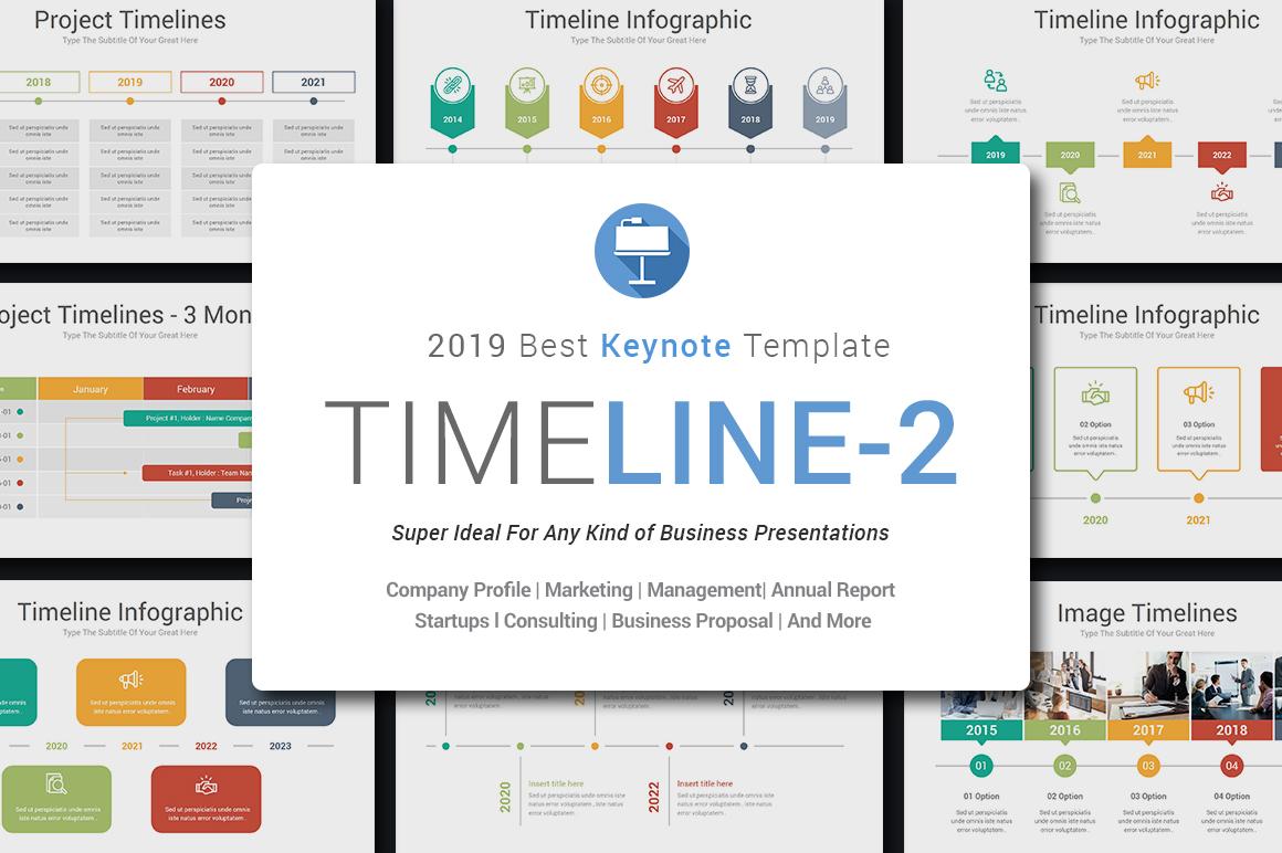 Keynote Timeline Infographics Pack-2 example image 2