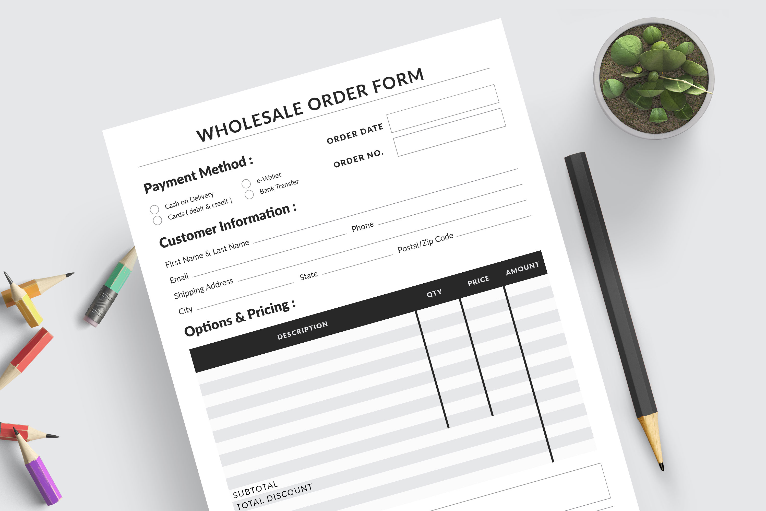 Editable Wholesale Order Form Template example image 4
