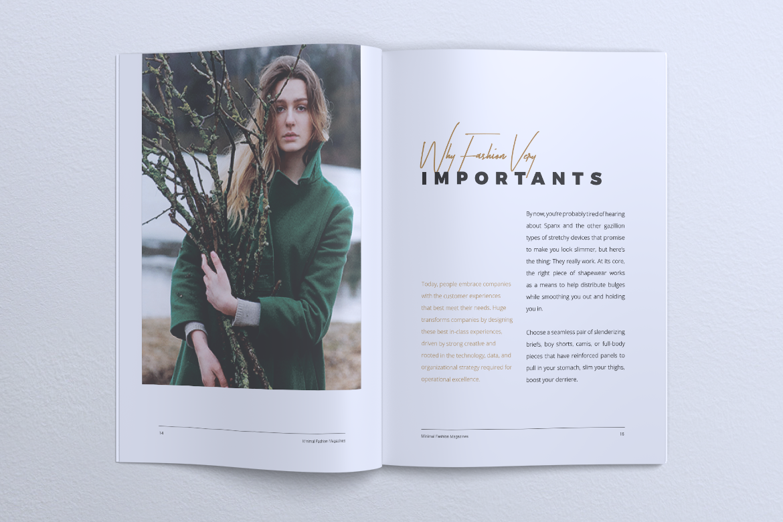 MINIMAL Lookbook Magazines Fashion example image 12