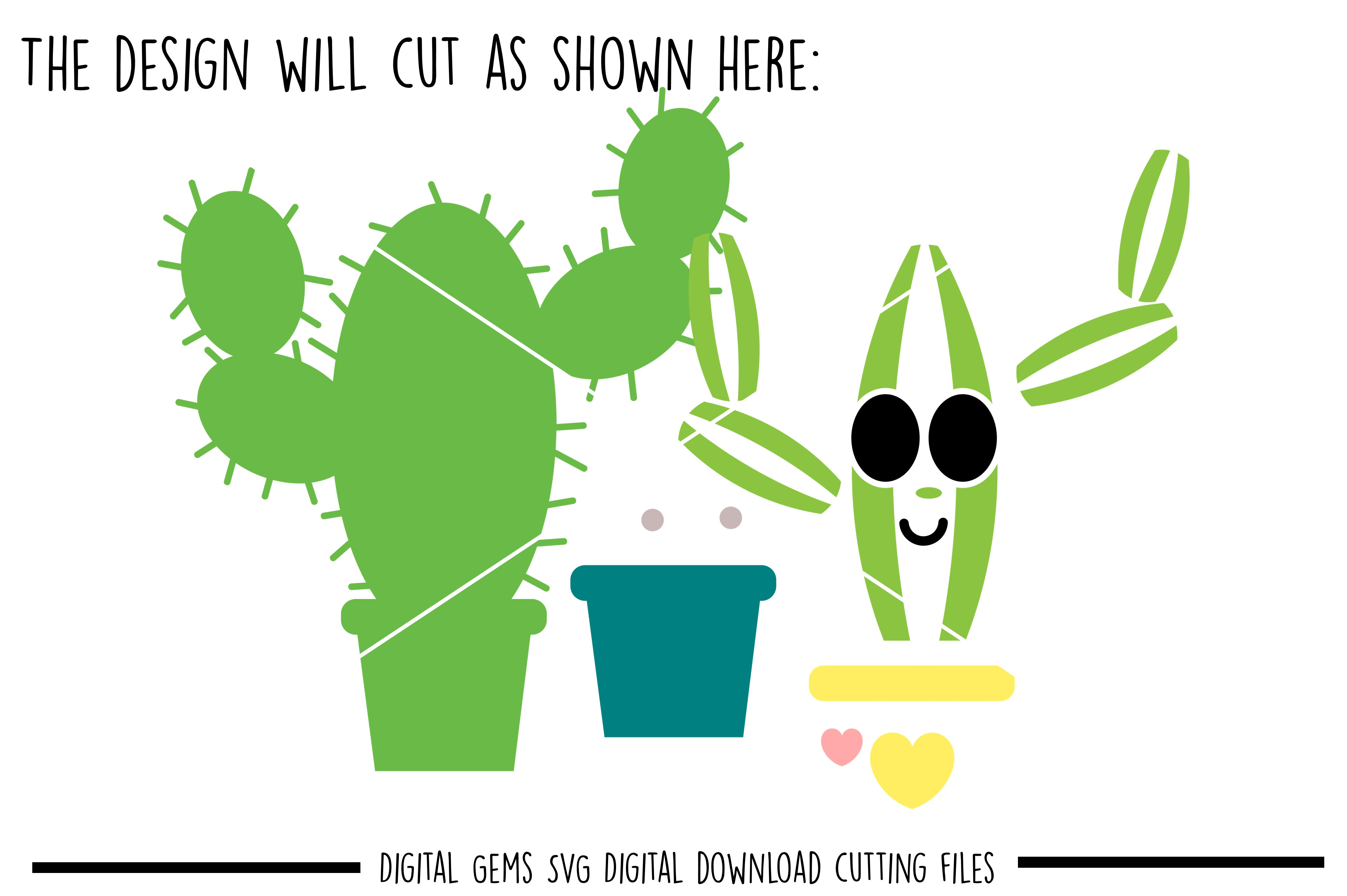 Cactus SVG / PNG / EPS / DXF Files example image 3