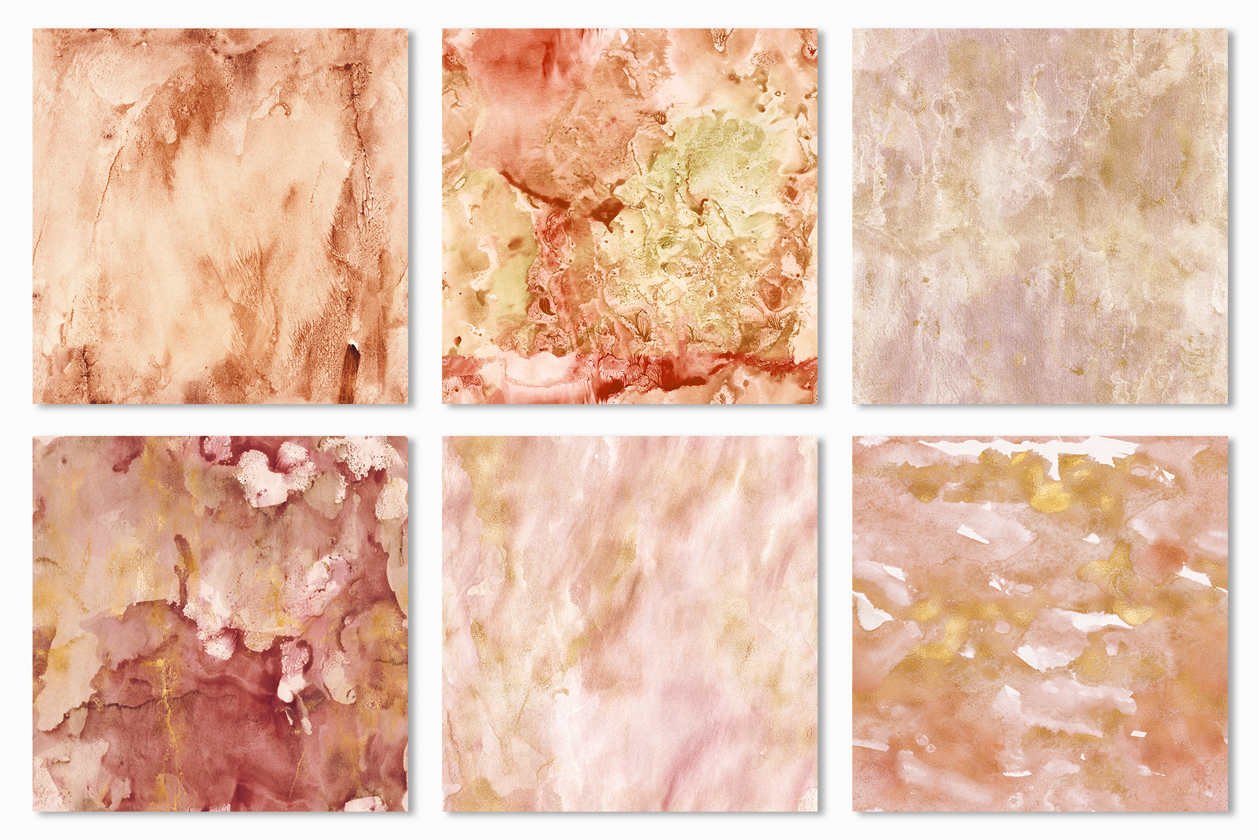 20 Seamless Watercolor Textures - Burnt Orange Backgrounds example image 22