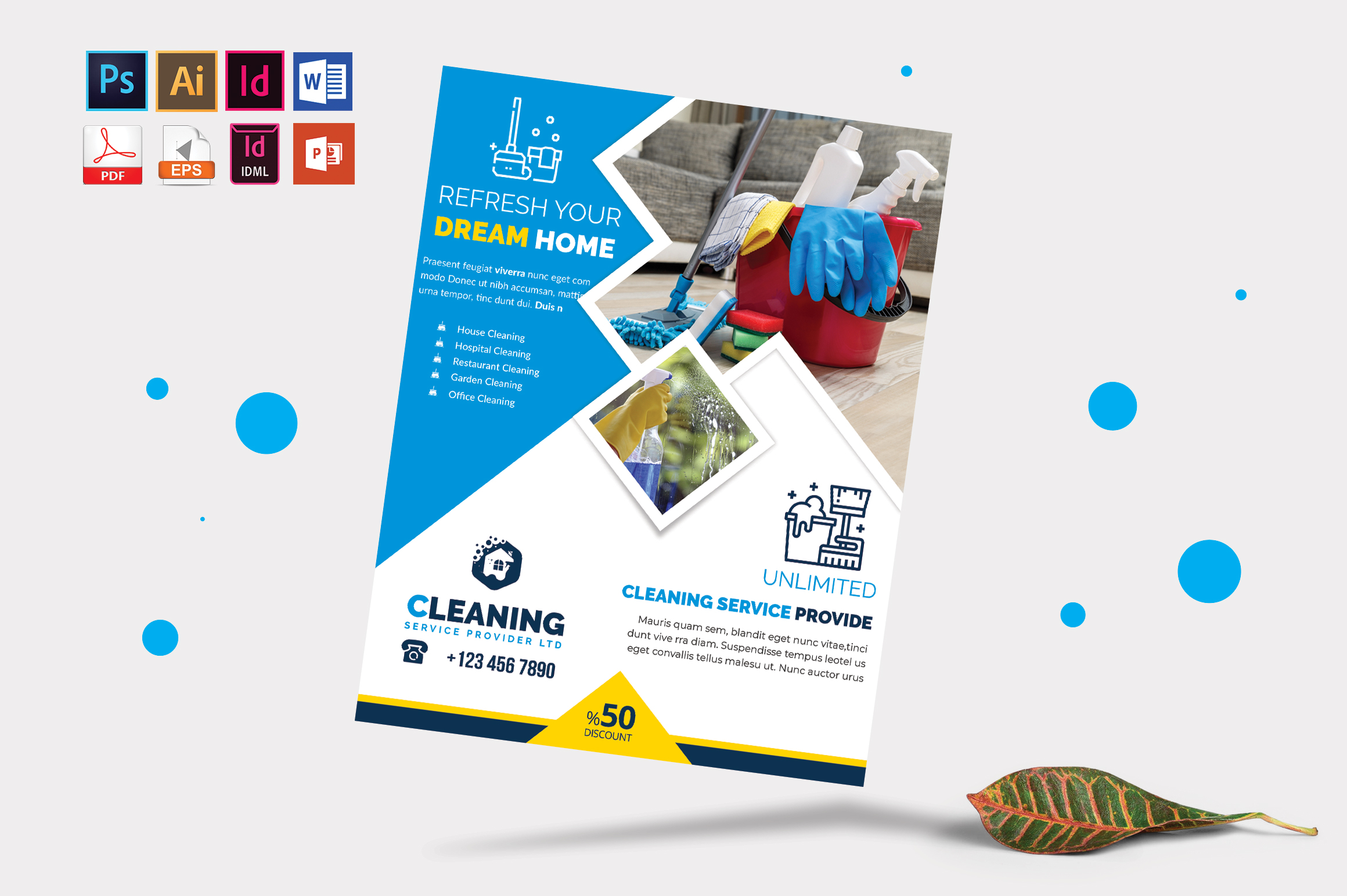 Cleaning Service Flyer Vol-06 example image 3