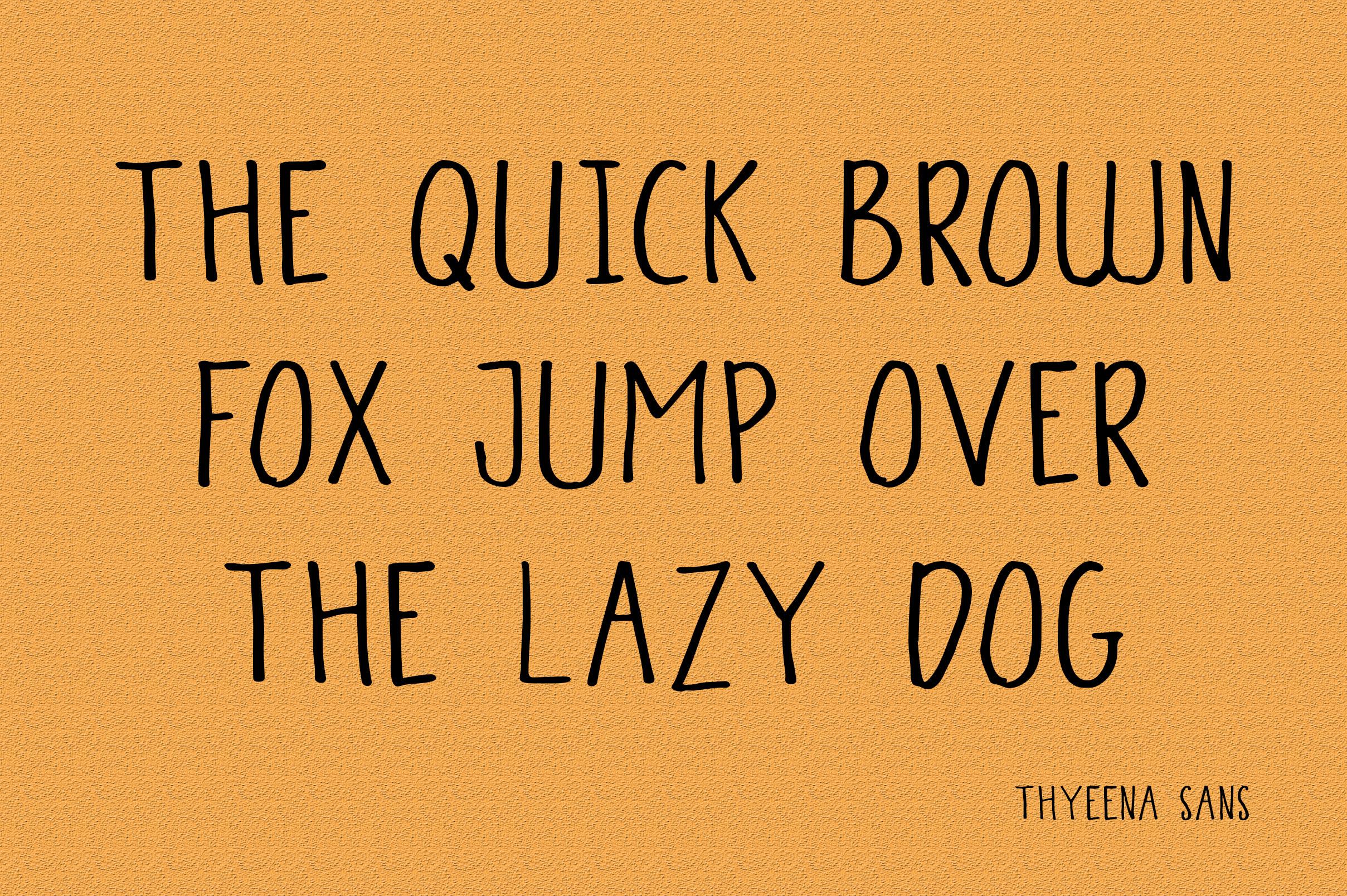 Thyeena Fonts & Illustration example image 10