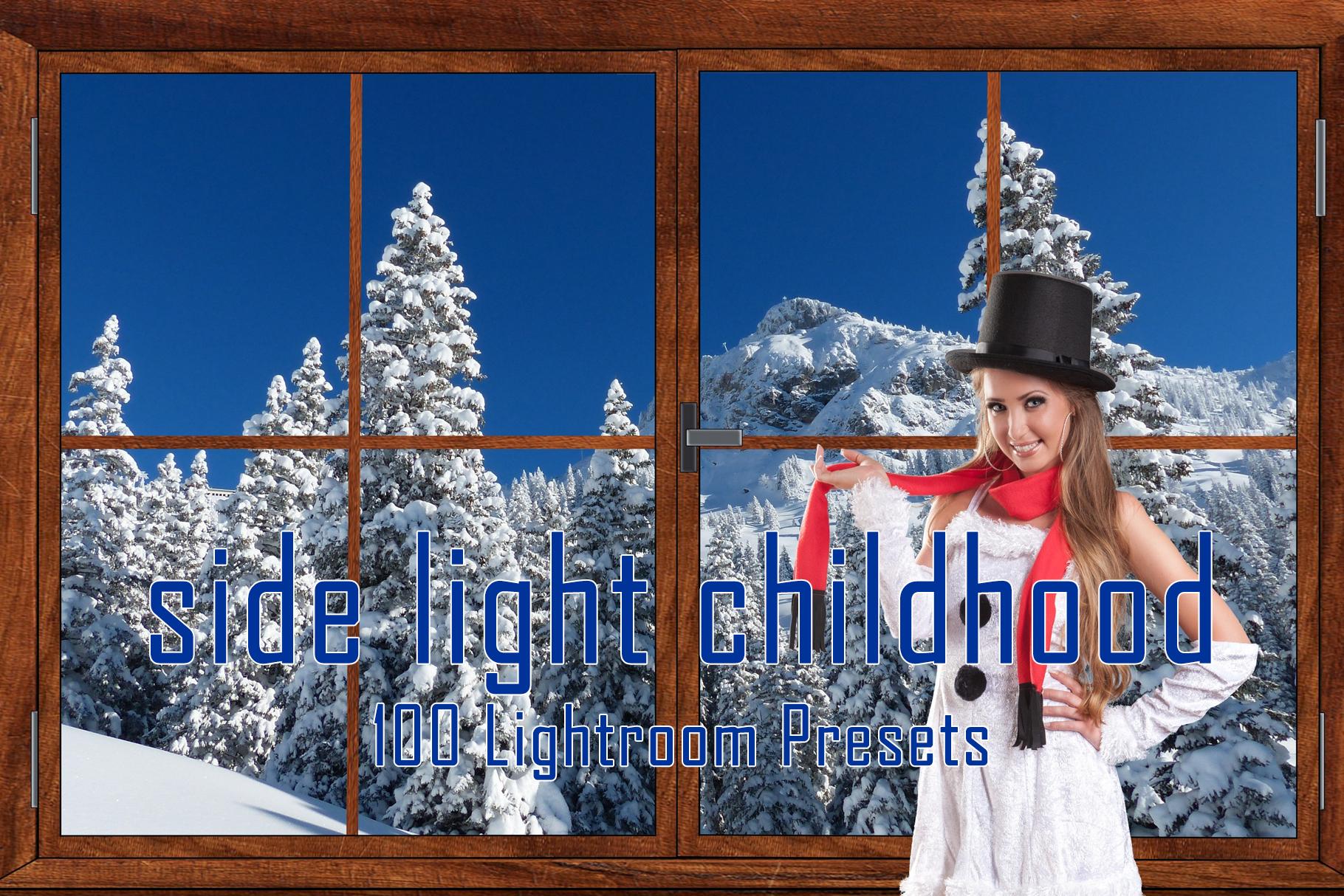100 Side Light Childhood Lightroom Presets example image 1