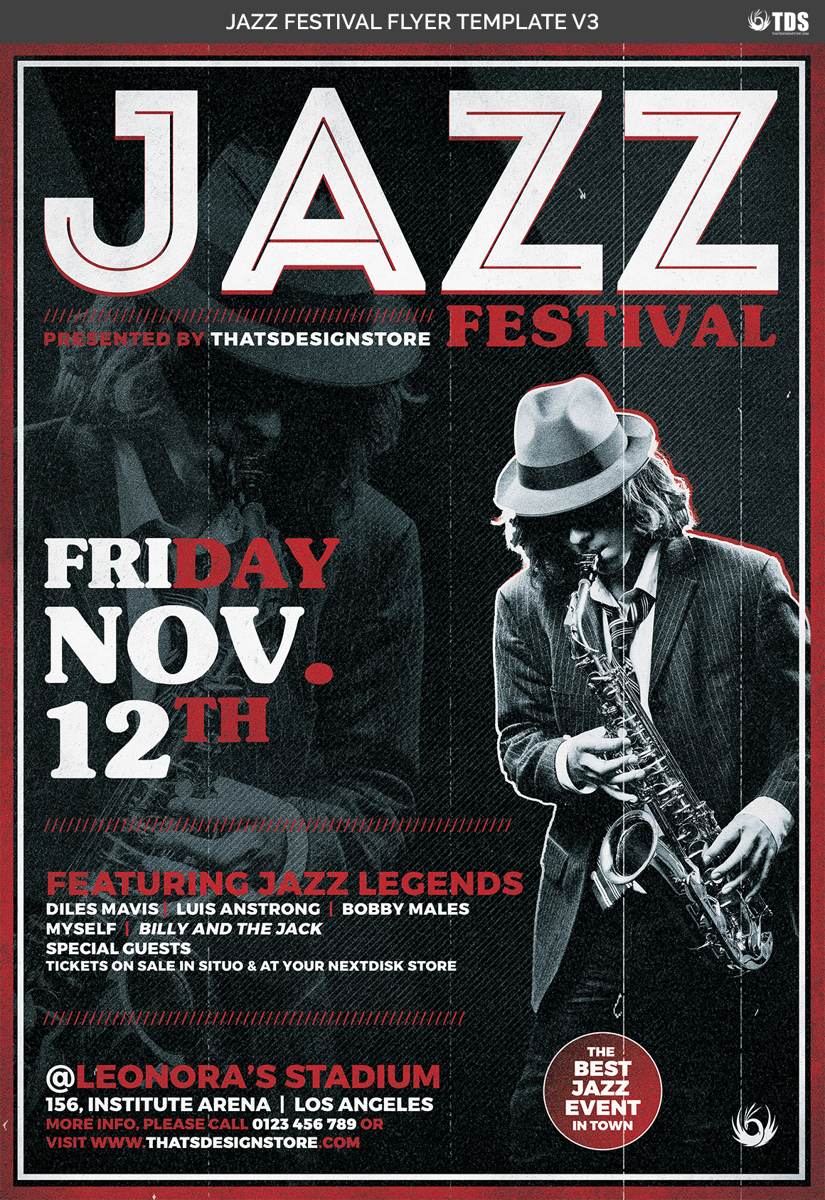 Jazz Festival Flyer Template V3 example image 4