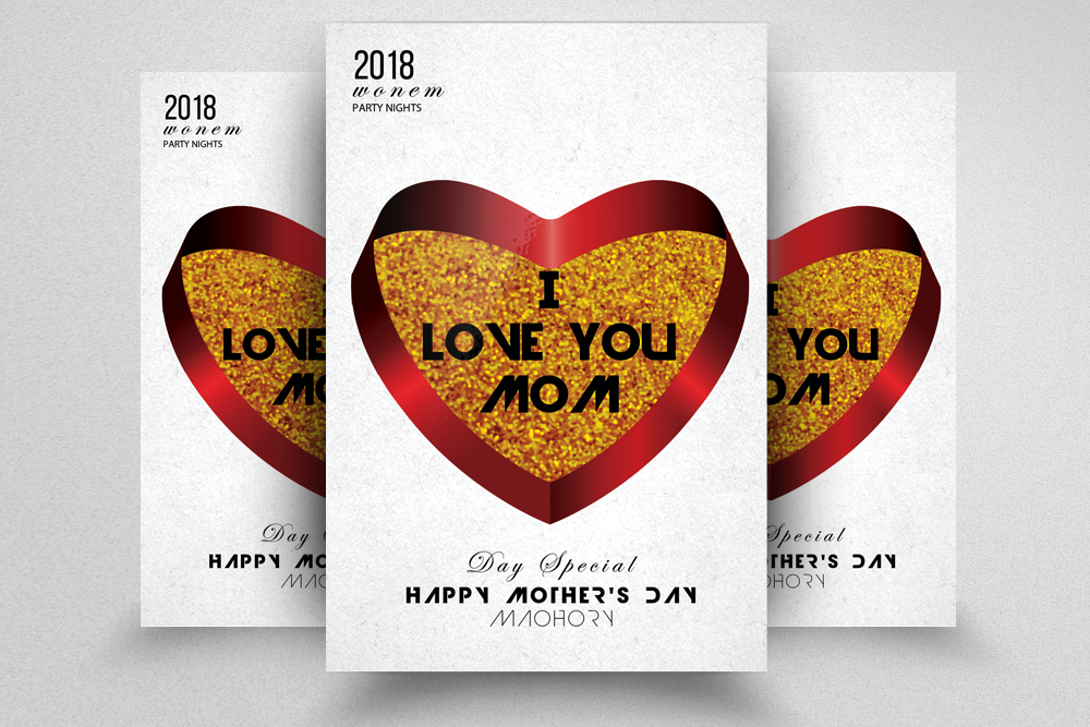 Happy Mothers Day Flyer Template example image 1