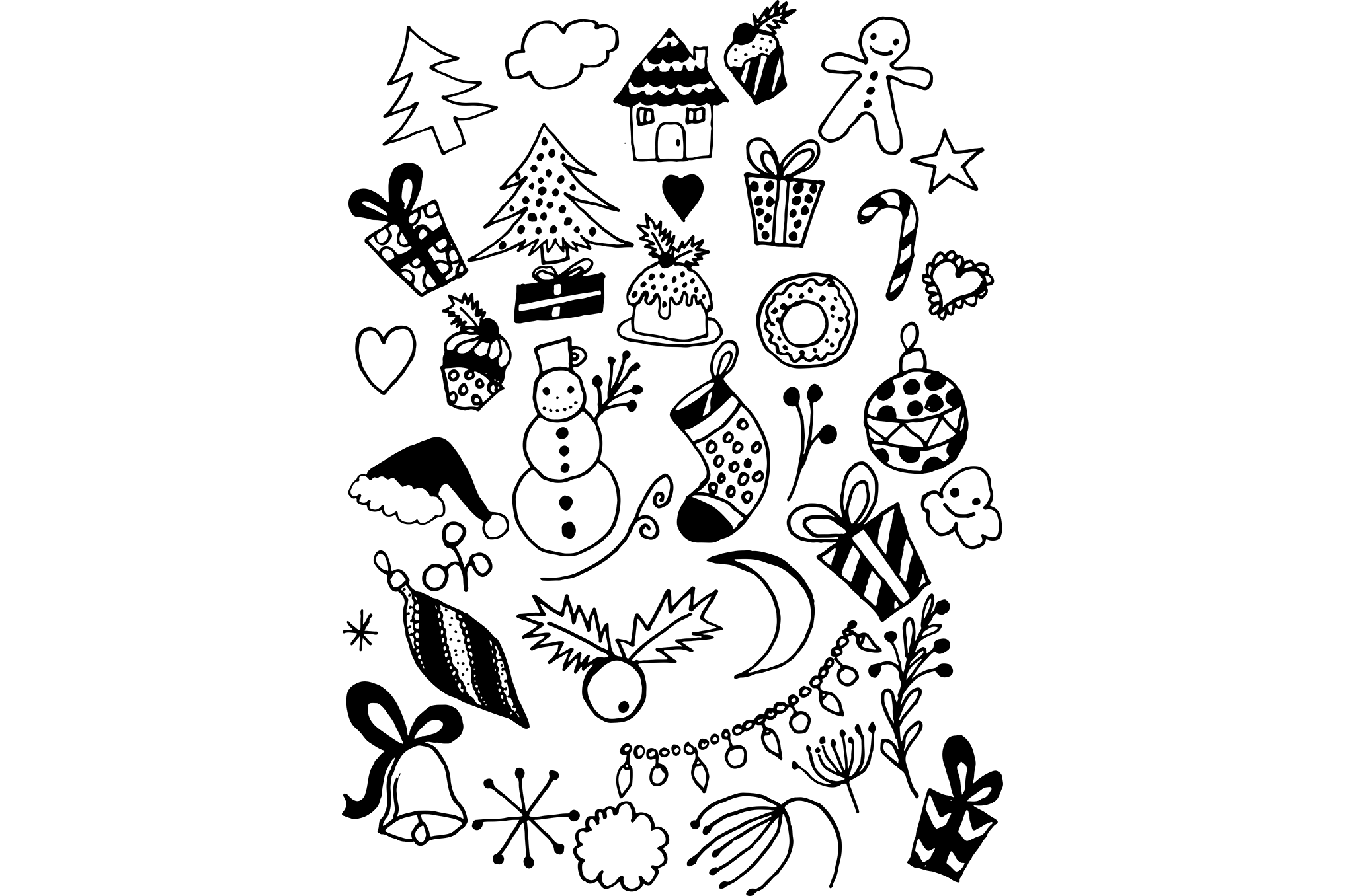 Hand Drawn Christmas Doodles