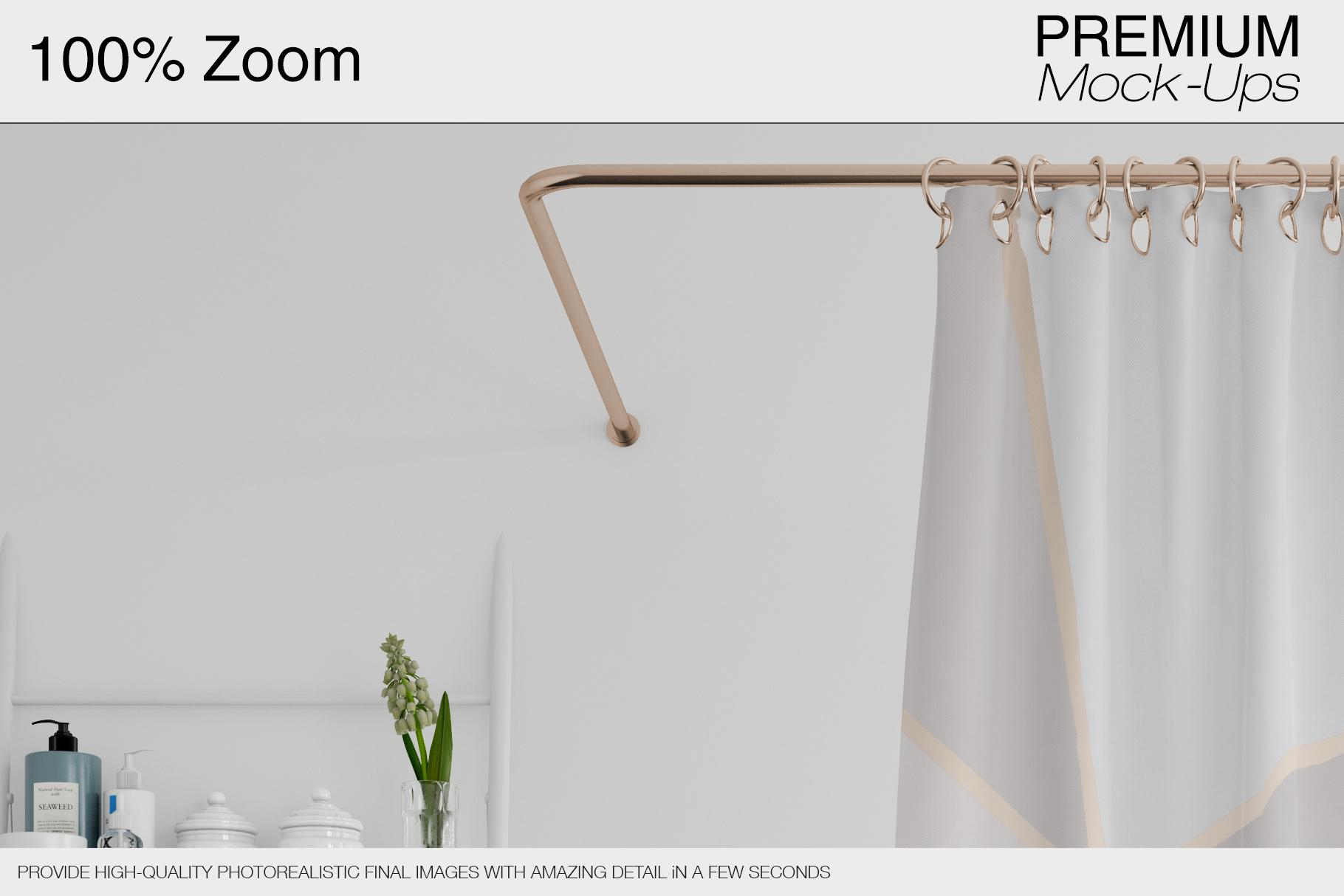 Bath Curtain Mockup Pack example image 9
