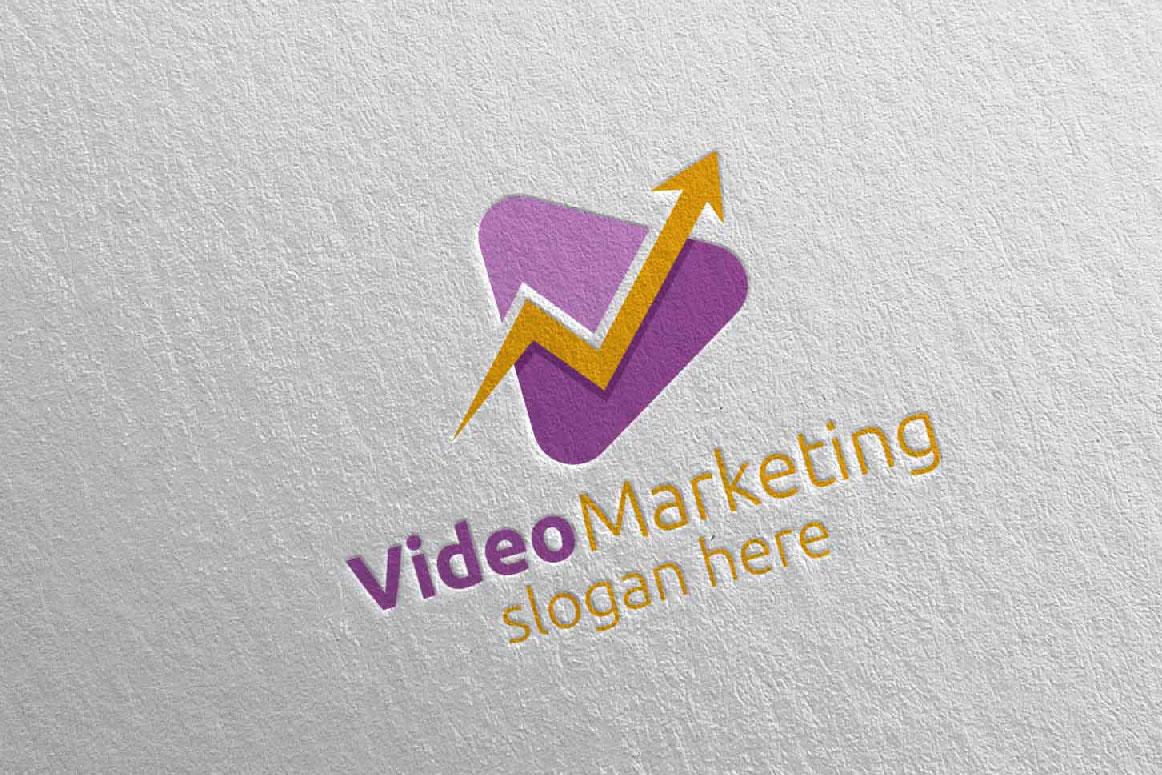 Video Marketing Financial Advisor Logo Design 20 example image 4