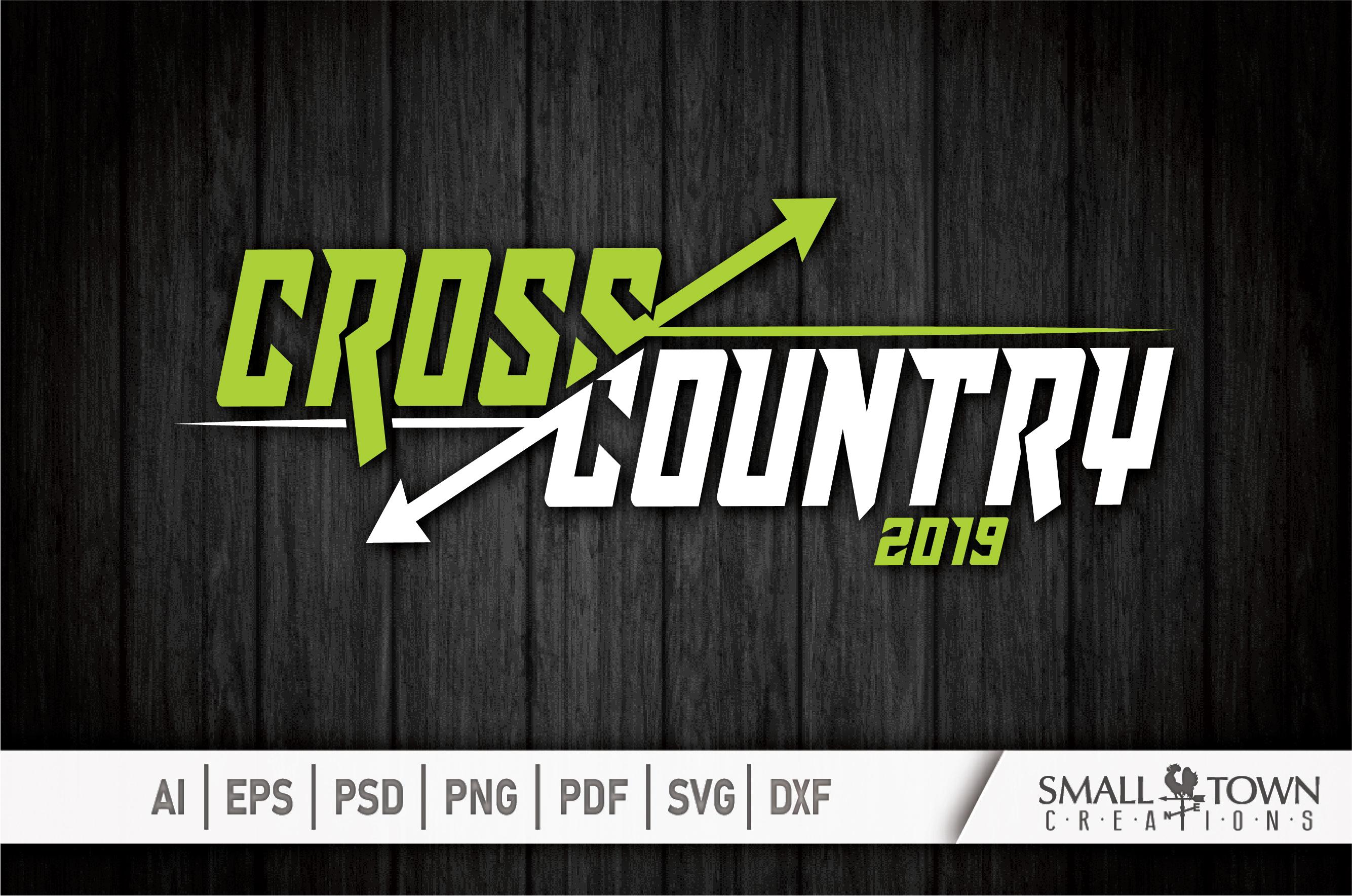 Cross Country, Running logo, Team, PRINT, CUT & DESIGN example image 5