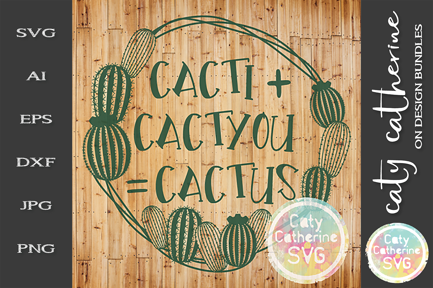 Cacti & Cactyou Equals Cactus SVG Cut File Couple Love SVG example image 1