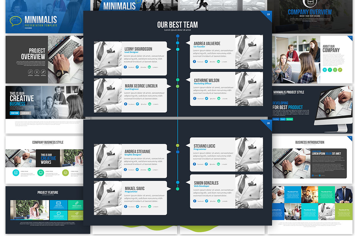 Minimalis Powerpoint Template example image 3