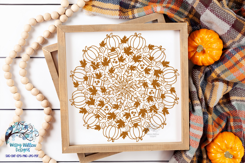Pumpkin Latte Mandala SVG | Fall Mandala SVG | Fall SVG example image 2
