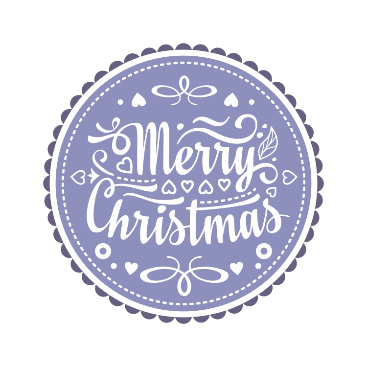 Christmas decor and lettering greeting card. example image 3