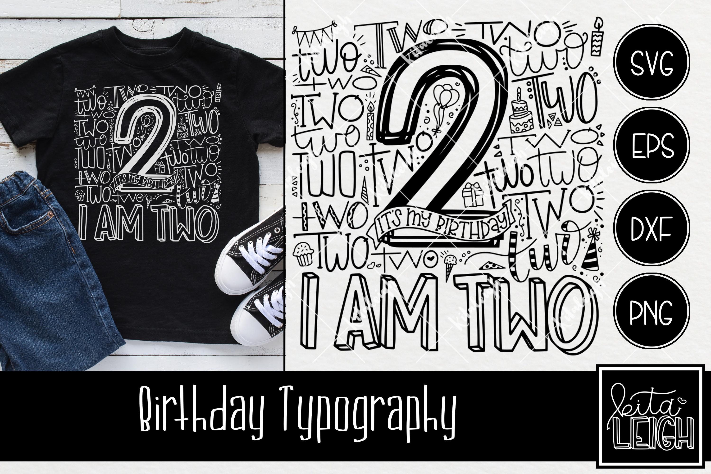 Birthday Typography Bundle example image 3