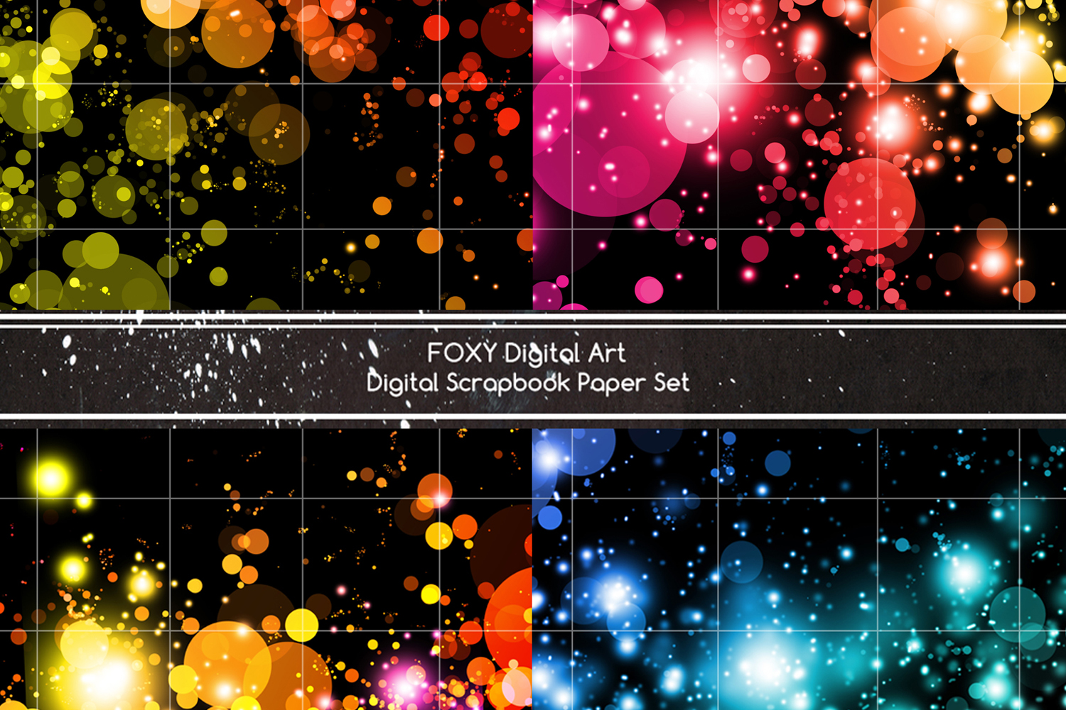 Digital paper bokeh soft focus effect christmas holiday snow example image 3