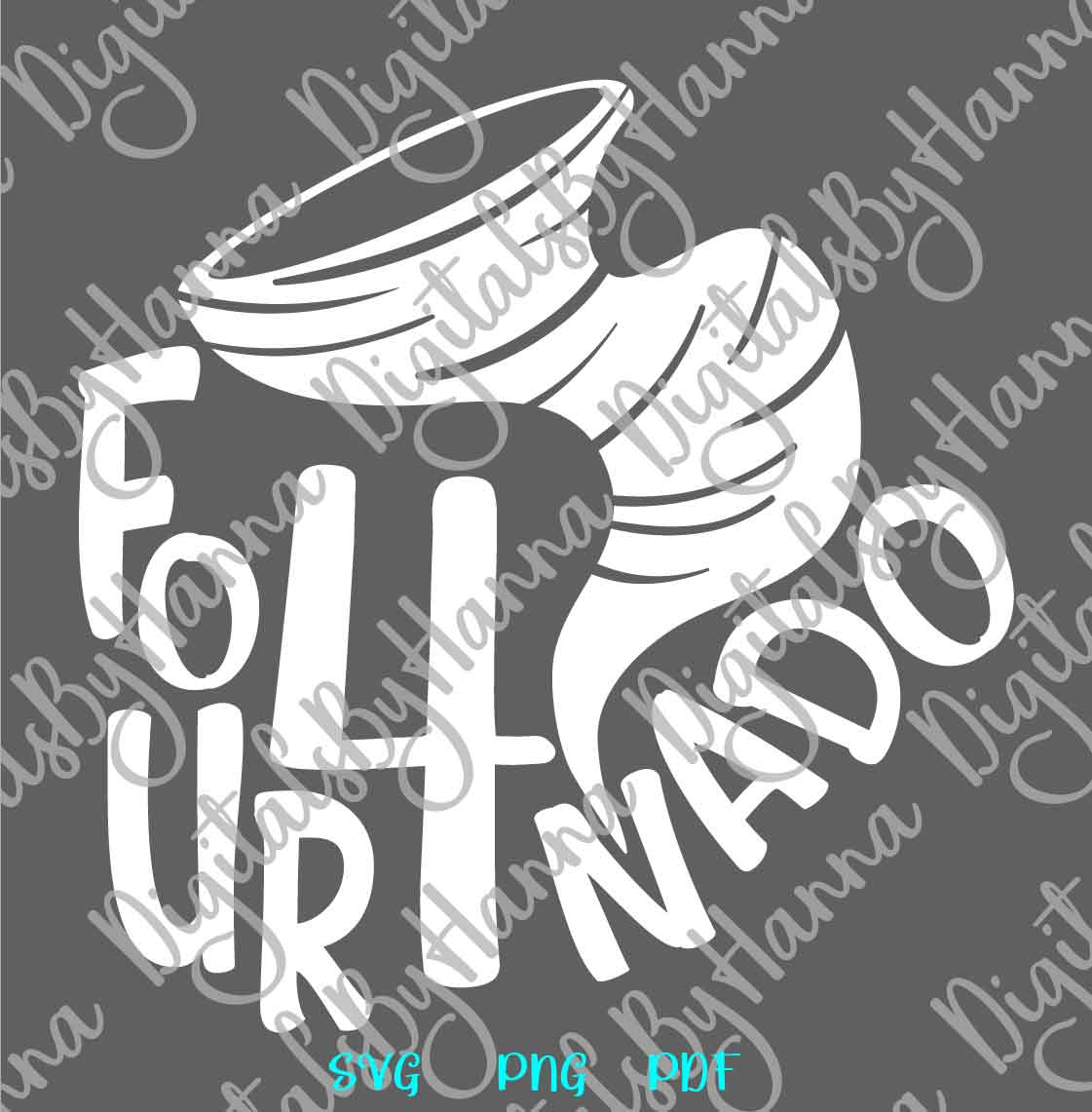Fournado 4th Birthday Outfit Sign Print & Cut File PNG SVG example image 6