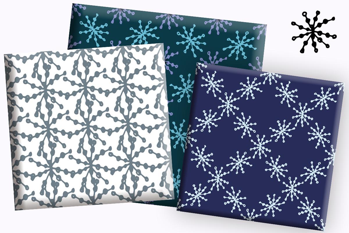Winter digital paper bag