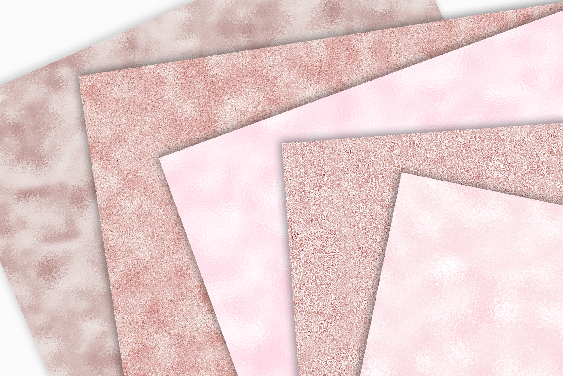 Blush Digital Papers - 10 Seamless Pink Foil Textures example image 3