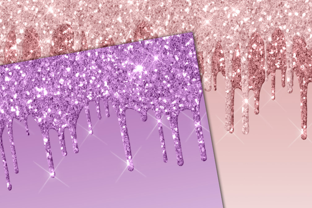 Dripping Glitter Digital Paper example image 2