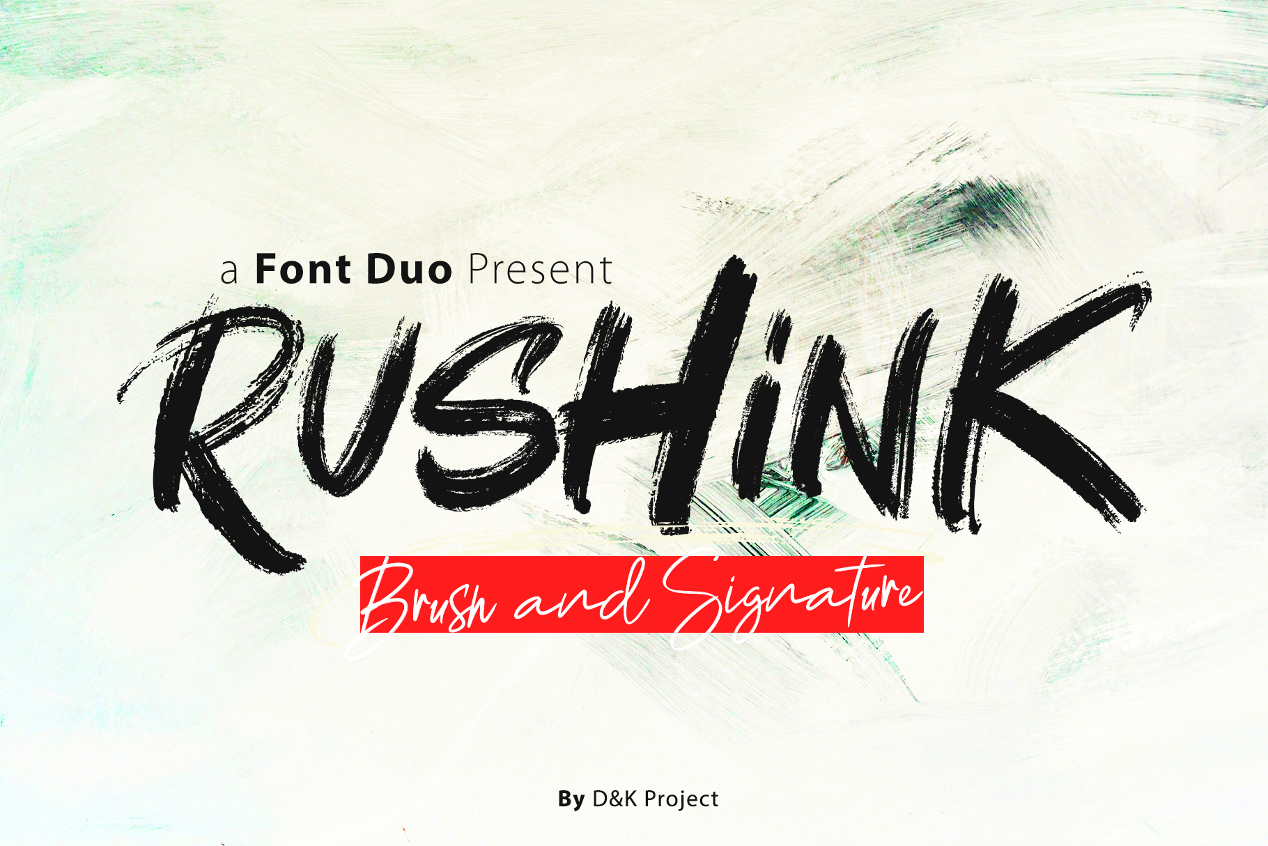 Rushink Font Duo | Brush & Signature example image 5