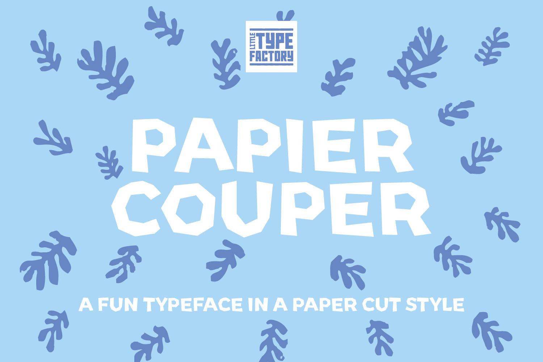 Papier Couper - A fun papercut style font example image 10