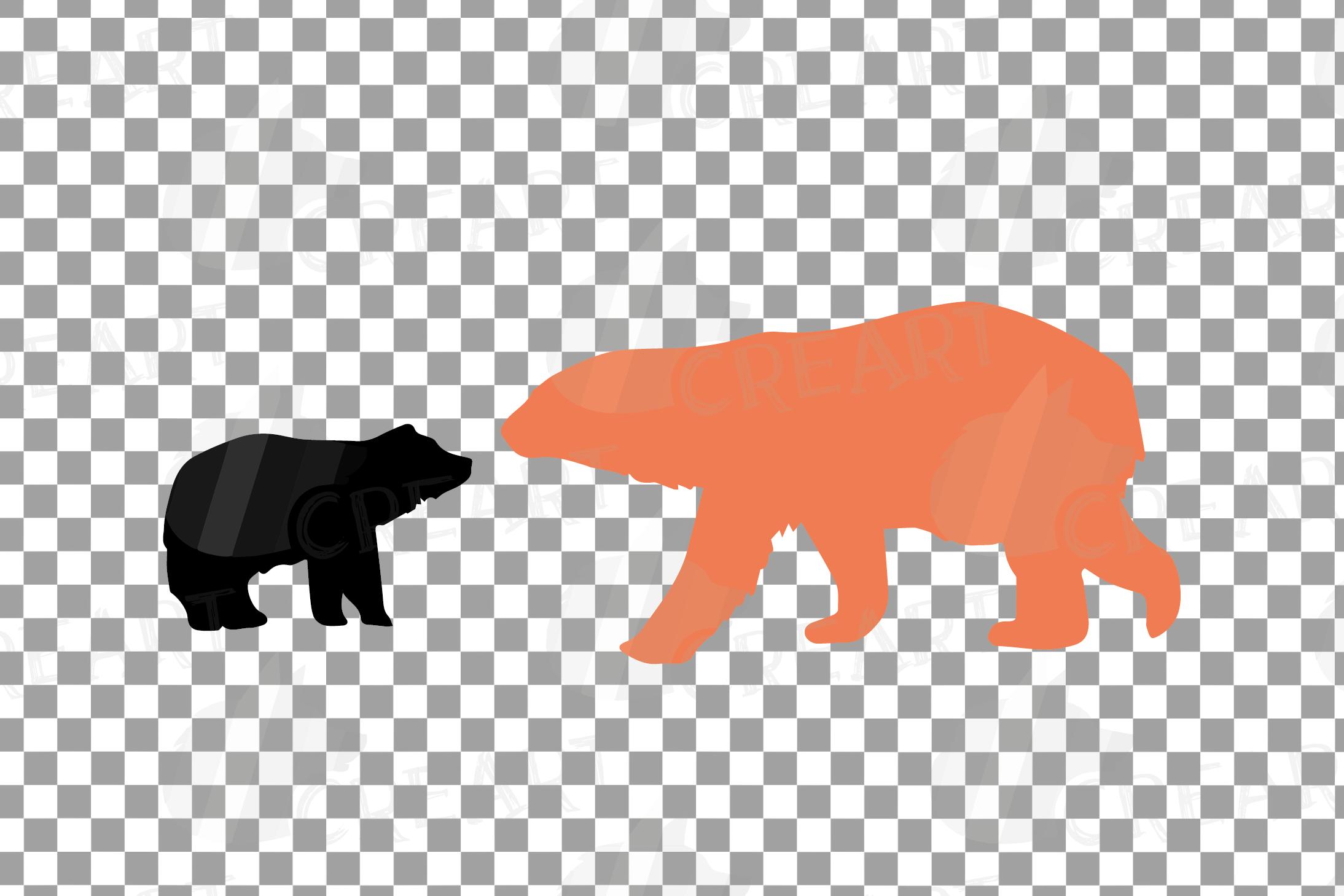 Baby and mama bear nursery clip art collection, bears print example image 12