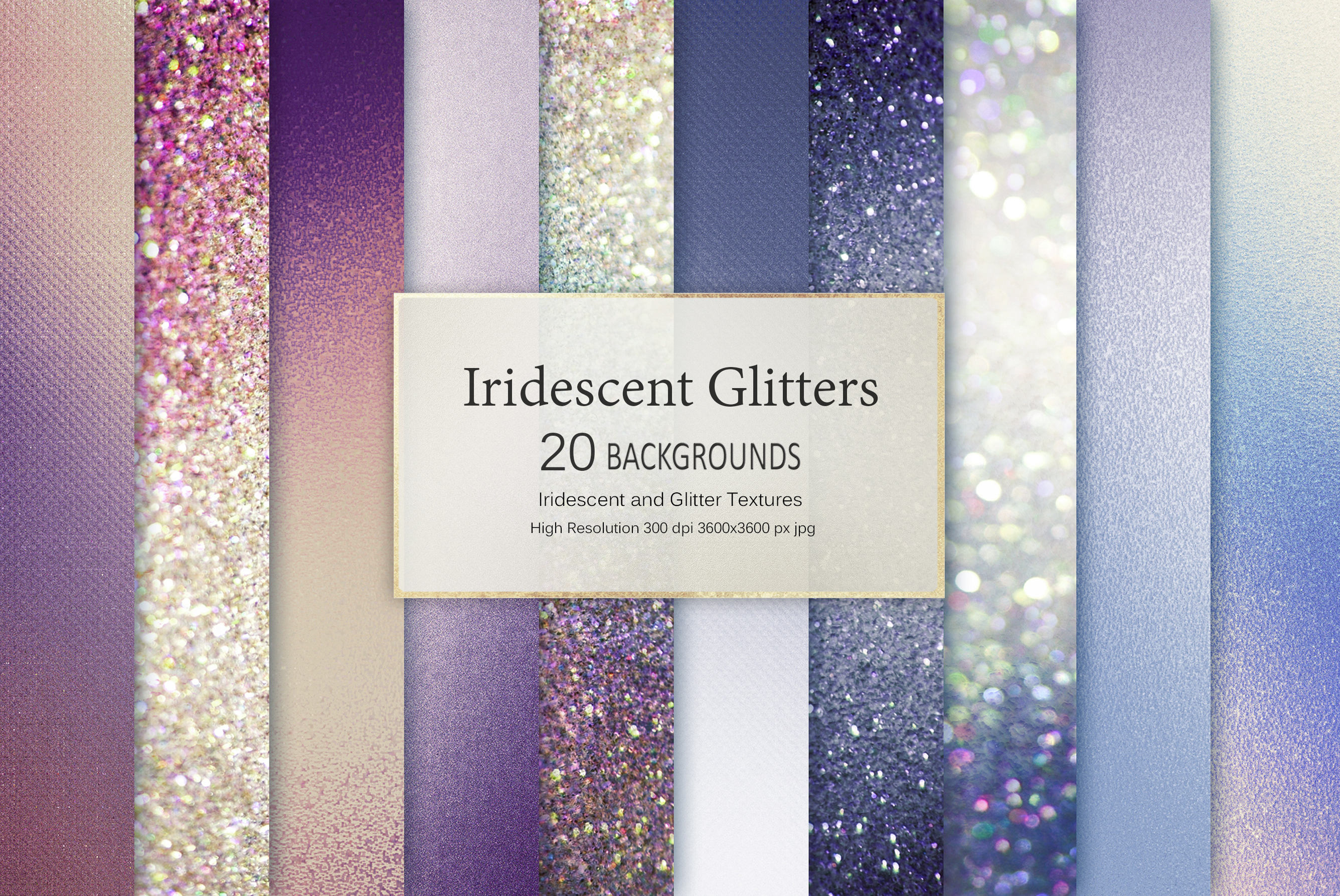 Iridescent and Glitter Foil 180 Textures BUNDLE example image 24