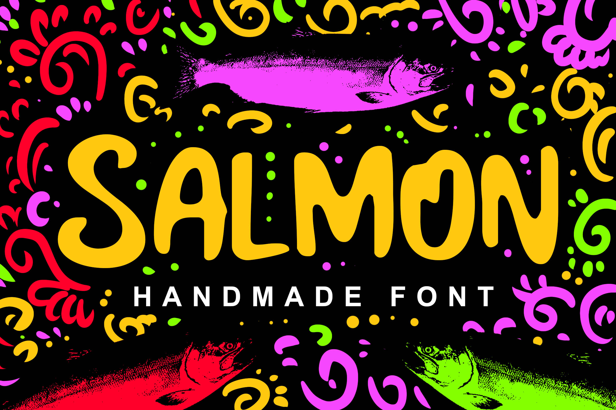 Salmon Fancy Font example image 1