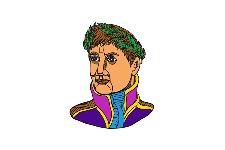 Emperor Napoleon Bonaparte Mono Line example image 1