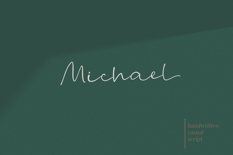 Michael - a casual handwritten script example image 1