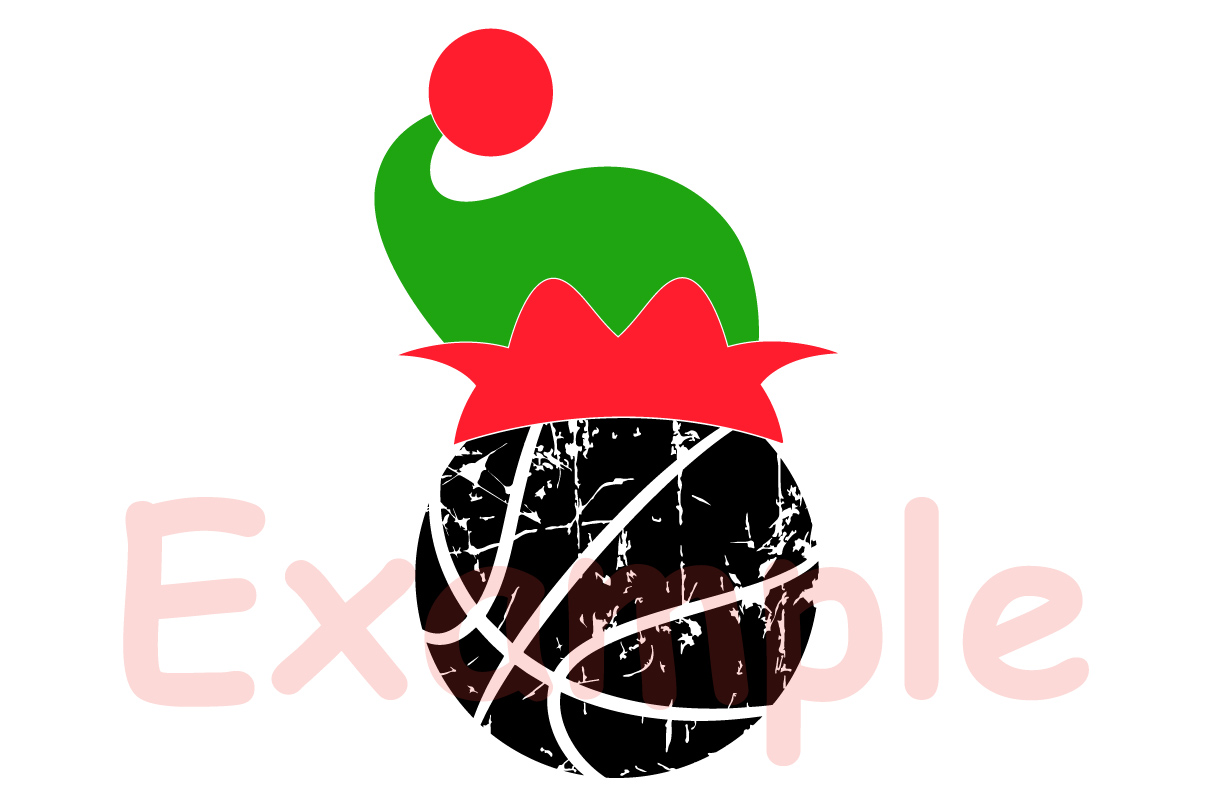 Basketball Christmas Hat svg Elf sweater santa hat 1049s example image 3